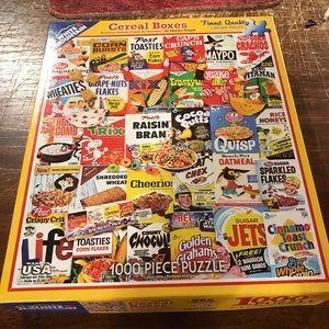 Vintage Cereal Boxes 1000 Piece Puzzle w/ Box
